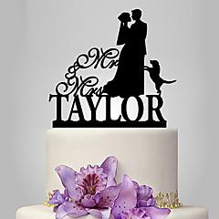billige Kakedekorasjoner-Kakepynt Dyr Klassisk Tema Romantik Bryllup Klassisk Par Plast Bryllup med 1 Polyester Veske