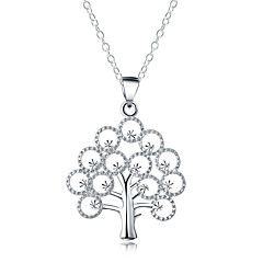 cheap Men's Necklaces-Statement Necklace - Silver Plated Tree of Life Ladies, Fashion Silver Necklace Jewelry For Daily