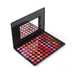 Professional 88 Colors Lip Gloss Lip Balm Makeup Palette Sexy Moisturizer Cosmetic Shimmer with Mirror Sponge Brush Moisture Essence Base Kit
