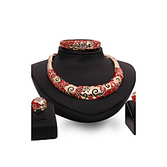 tanie Zestawy biżuterii-Damskie Zestawy biżuterii Rhinestone Żywica Kryształ górski Pokryte różowym złotem Stop Inne Spersonalizowane Vintage Wyrazista biżuteria