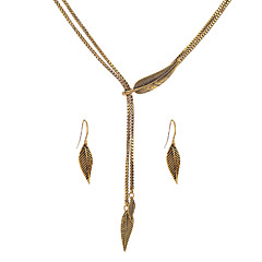 Women's Jewelry Set Unique Design Euramerican Costume Jewelry Alloy Leaf For Party Anniversary Gift Casual Valentine Wedding Gifts