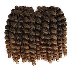 economico Treccine-Capelli intrecciati Classico Trecce Crochet pre-ciclo / Extension di capelli umani 20 radici / confezione capelli Trecce Capelli ricci stile giamaicano Quotidiano