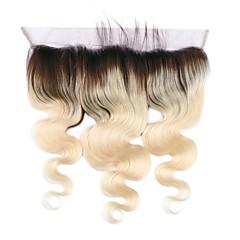 billiga Peruker och hårförlängning-Klassisk Kroppsvågor 4x13 Stängning Schweizisk spetsperuk Remy Fria delen Hög kvalitet Dagligen