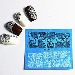 billige Negleklistremerker-48 Vannoverføringsklistre Lace Sticker Mote Daglig Høy kvalitet