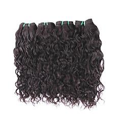 billige Remy fletninger af menneskehår-Menneskehår Remy fletninger af menneskehår Naturligt, bølget hår Brasiliansk hår 400 g