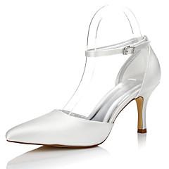 olcso -Női Esküvői cipők Kényelmes Selyem Ősz Tél Ruha Party és Estélyi Kényelmes Csat Stiletto Kristály 2 inch-2 3 / 4 inch