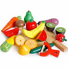 billiga Leksakskök och -mat-Leksaksmat Frukt och grönt Frukt- och grönsaksskärare Magnet Klassisk Pojkar Flickor Leksaker Present
