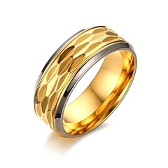 cheap Rings-Men's Ring - Gold Plated Vintage, Simple Style, Elegant 9 / 10 / 11 Gold For Wedding / Party / Evening / Thank You / Daily
