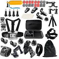 キット 汎用アクセサリ 屋外 耐衝撃 多機能 ために アクションカメラ ゴプロ6 すべてのアクションカメラ フリーサイズ SJCAM SJ4000 ThiEYE I60 MEEE GOU MINI ユニバーサル 日常使用 スノースポーツ モーターバイク ナイロンPVA