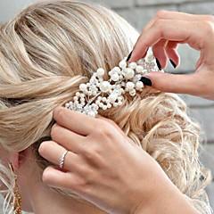 人造真珠 アクリル かぶと-結婚式 パーティー 屋外 ティアラ ヘッドバンド ヘッドチェーン ヘアメイクツール 1個