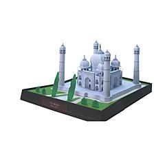tanie Gry i puzzle-Zabawki 3D Papierowy model Rzemiosło z papieru Model Bina Kitleri Křížky Znane budynki Architektura Taj Mahal 3D DIY Klasyczny Dla obu