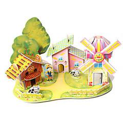 tanie Gry i puzzle-Zabawki 3D Dom Architektura DIY Papier wysokiej jakości Klasyczny Dla obu płci Prezent