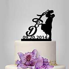 Kakepynt Klassisk Par Bryllup Klassisk Tema Mennesker Romantik Bryllup Polyester Veske