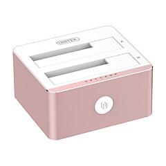 Vaaleanpunainen 3,5 / 2,5 tuuman sata3 usb3.0 -laitteistoalumiiniseos 12v 3a virtalähteellä