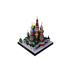 tanie Gry i puzzle-Zabawki 3D Papierowy model Rzemiosło z papieru Model Bina Kitleri Znane budynki Kościół Architektura 3D DIY Klasyczny Dla obu płci Prezent