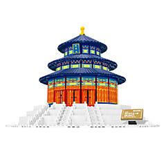 אבני בניין צעצועים ריבוע בניין מפורסם ארכיטקטורה חתיכות יוניסקס נערים יום הולדת מתנות