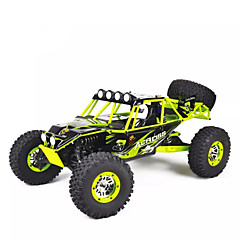 billige Fjernstyrte biler-Radiostyrt Bil WL Toys 10428 2.4G 4WD Høyhastighet Driftbil Off Road Car Monster Truck Bigfoot Fjellklatring Bil Buggy (Off- Road) 1:10