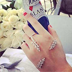 Női Bilincs karkötők mandzsetta Ring Strassz Egyedi Állítható minimalista stílusú Strassz Ötvözet Szárnyak / Toll KompatibilitásEsküvő