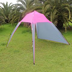 billige Telt og ly-3-4 personer Lytelt Telt Enkelt camping Tent Ett Rom Brette Telt Camping & Fjellvandring Ultraviolet Motstandsdyktig Regn-sikker Støvtett