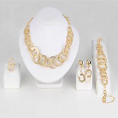 女性用 ブライダルジュエリーセット 模造ダイヤモンド ファッション ビンテージ コスチュームジュエリー ゴールドメッキ 合金 円形 用途 パーティー イベント/パーティー 日常着 ウェディングギフト