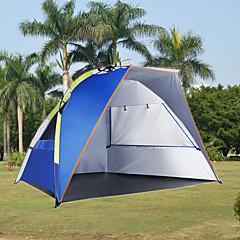 billige Telt og ly-3-4 personer Strandtelt Telt Enkelt camping Tent Ett Rom Automatisk Telt Ultraviolet Motstandsdyktig Regn-sikker Støvtett til Camping &