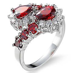 Dames Ringzettingen Bandringen Ring Kubieke Zirkonia BergkristalBasisontwerp Cirkelvormig ontwerp Uniek ontwerp Meetkundig Vierkant