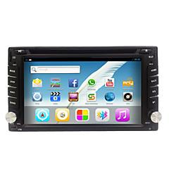 billiga DVD-spelare till bilen-6.2 tum 2 Din Android6.0 Högupplöst / Flerfärgad skärm / Beröring / Beröringsfri för Universell Stöd / Plast / Mikrofon / Volymkontroll