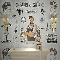billige Tapet-barber skreddersydde 3d store veggdekorasjoner veggmaleri bakgrunnsbilder utstyrt hårsalong soverom kunst