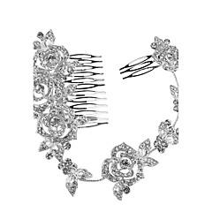 Kryształ Tiary Opaski Hair Combs Kwiaty Łańcuszek na głowę Winieta