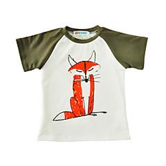 tanie Odzież dla chłopców-Brzdąc Dla chłopców Nadruk Krótki rękaw Bawełna T-shirt