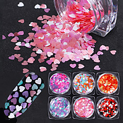 6 Nail Art Decoration tekojalokivi Pearls meikki Kosmeettiset Nail Art Design