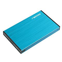 Zitplaats hdas6280-bl 2.5-inch usb3.0 sata voor ssd en mechanische harde schijf aluminiumlegering blauw