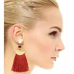 Women's Drop Earrings  Euramerican Fashion Bohemian Punk Exaggerated Color Beads Tassel Earrings Movie Jewelry