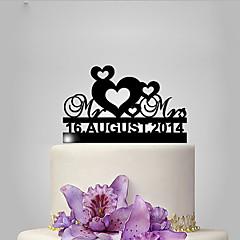 billige Kakedekorasjoner-Kakepynt Hjerter Bryllup Klassisk Tema Bryllup Polyester Veske