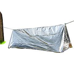 billige Telt og ly-1 person Tilbehør for Telt Enkelt Stang camping Tent Utendørs Bærbar, Vindtett, Kompakt til Camping & Fjellvandring / Jakt Belegg, Aluminiumfolie