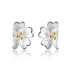 Χαμηλού Κόστους Φλοράλ κοσμήματα-Γυναικεία Κουμπωτά Σκουλαρίκια - Λουλούδι Ασημί Για Αποφοίτηση / Επιχείρηση / Καθημερινά