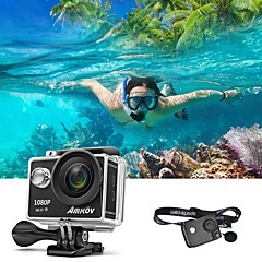 AMKOV 6000S 1080P WIFI Sports Action Camera True Full HD Waterproof DV Camcorder 12MP 170 Degree Wide Angle With 2 Rechargeable Battery Carry Holster