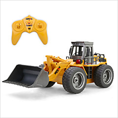 baratos Carros Controle Remoto-Carro com CR HUINA 1520 Canal 6 2.4G Bulldozer 1:18 Electrico Escovado KM / H Controlo Remoto / Recarregável / Elétrico