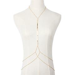 בגדי ריקוד נשים תכשיטי גוף שרשרת גוף / בטן שרשרת טבע חברות היפ-הופ Turkish לוליטה אופנתי וינטאג' סגנון בוהמיה Cooper Geometric Shape