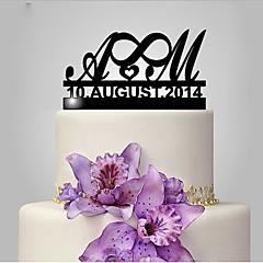 Kakepynt Artig & Underspillet Monogram Bryllup Klassisk Tema Bryllup Polyester Veske