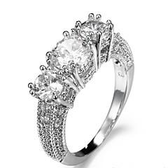 Dames Ringzettingen Bandringen Ring Kubieke Zirkonia BergkristalBasisontwerp Uniek ontwerp Bergkristallen Vriendschap