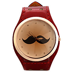 cheap Women's Watches-Women's Fashion Watch Unique Creative Watch Simulated Diamond Watch Chinese Quartz Imitation Diamond Leather Band Sparkle Mustaches