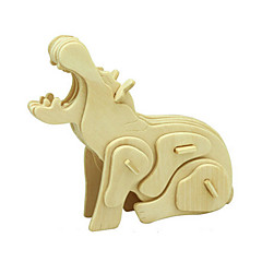 preiswerte -3D - Puzzle Holzpuzzle Holzmodelle Nilpferd Tier Heimwerken Hölzern Holz Klassisch Kinder Unisex Geschenk
