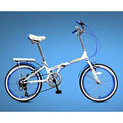 Összecsukható kerékpár Kerékpározás 7 Speed 20 hüvelyk Yinxing V-fék Merev váz Acél váz Karbon Összecsukható Összecsukható Alumínium