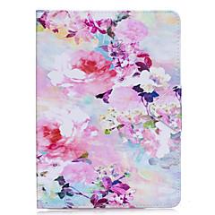 Pouzdro pro iPad air 2 pro 9.7 '' krycí pouzdro květinový vzor pu materiál trojitý tablet pc pouzdro na mobilní telefon ipad 2 3 4 air