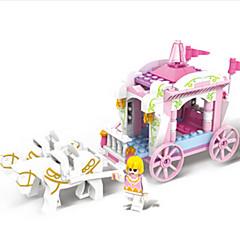 preiswerte -Spielzeug-Autos Bausteine Spielzeuge Burg Kutsche Pferd Kunststoff ABS Mädchen Stücke
