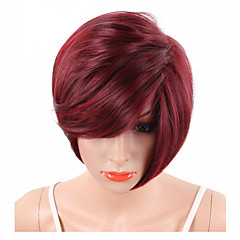 cheap Wigs & Hair Pieces-Synthetic Wig Wavy / Natural Wave / Natural Straight Red Synthetic Hair Red Wig Short Capless Watermelon Red