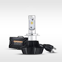 billige Frontlykter til bil-H8 9006 9005 H11 H7 H9 H10 Bil Elpærer 50W W Høypresterende LED 4000lm lm Hovedlygter Hodelykt