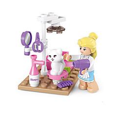 tanie Klocki magnetyczne-Klocki Figurki z klocków Zabawy w odgrywanie ról Zamek Dom Zwierzę Animals Dla dziewczynek Zabawki Prezent