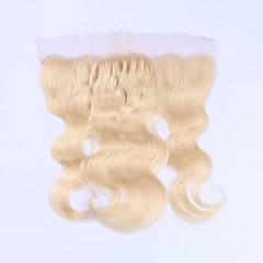 billiga Peruker och hårförlängning-Beata Hair Brasilianskt hår 4x13 Stängning Kroppsvågor / Klassisk Fria delen Schweizisk spetsperuk Remy-hår / Äkta hår Dagligen